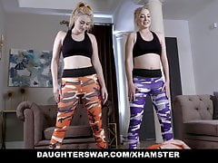 DaughterSwap - Two Teens Fucking Each Others Dads After Work