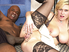 pierced milf ass fucked by a black monster cock