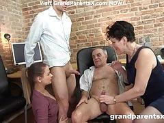 Lucky couple fucks younger couple