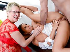 LETSDOEIT - Amazing German Threesome Sex with 2 Horny MILFs