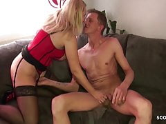 German MILF Sister Jenny Help Bro with Sex by lovesickness