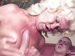 Hairy 74yr old Hanging Tits Granny Seduce Fuck by Teen Guy