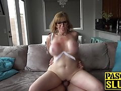 Subslut MILF Sara Jay choked and destroyed with big cock