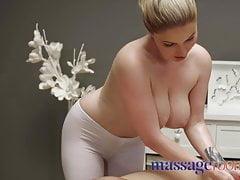 Massage Rooms Big tits British blonde Georgie Lyall titwank