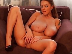 Big Titted Euro Beauty Dildos Herself