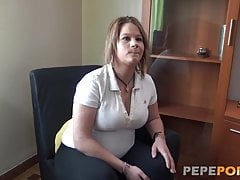 Preggo MILF fantasy is having a threesome with two guys