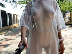 Transparent dress selfie for my subscribers