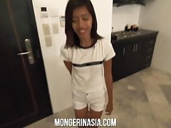 Super Skinny Asian Maid Fucked Hard and Impregnated By Giant